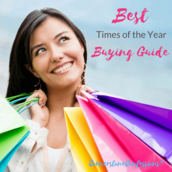 Best Time of the Year Buying Guide--Great guide for produce, electronics, furniture, and more!