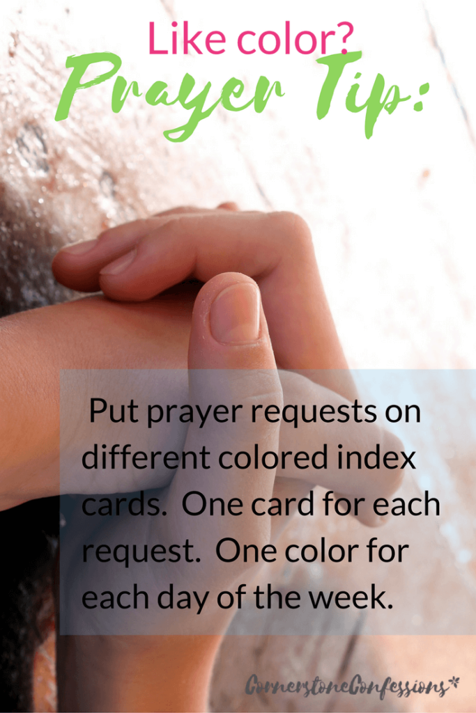 Prayer Tip for those that like color