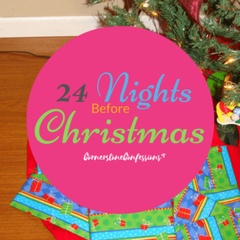 24 Nights Before Christmas--a simple countdown to Christmas using books around your house! A new book every night!