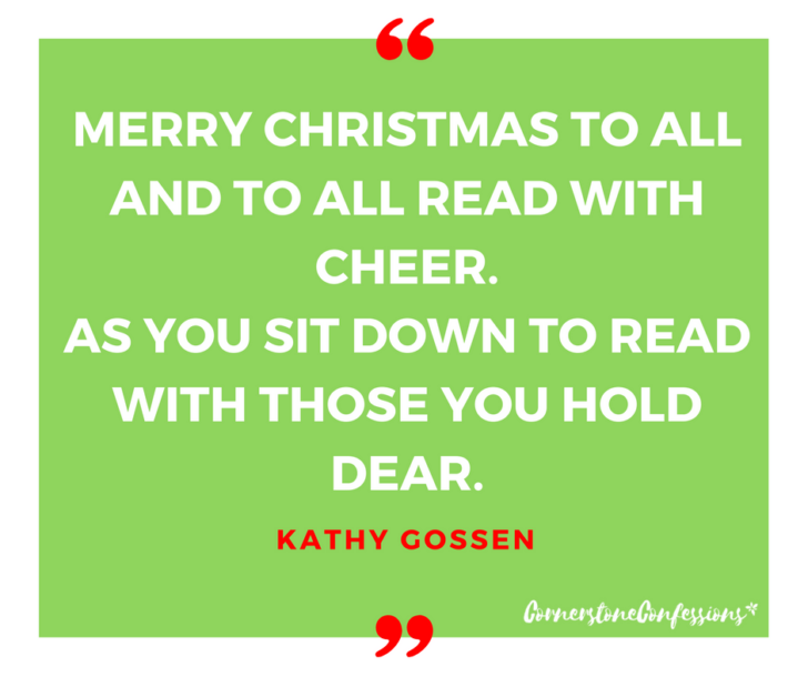 Merry Christmas to all and to all read with cheer. As you sit down to read with those you hold dear.