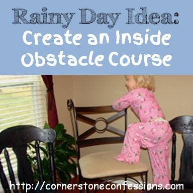 Rainy Day Idea: Create an Inside Obstacle Course #kids