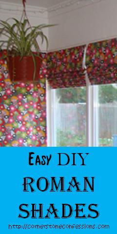 Easy DIY Roman #Shades w/o a Dowel Rod