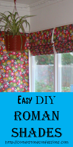 Easy DIY Roman #Shades w/o a Dowel Rod