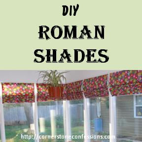 Easy DIY Roman Shades