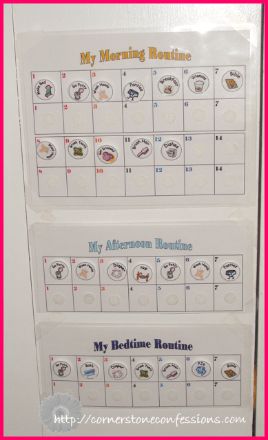 Special Routine Charts #freeprintables
