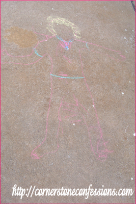 Peanut's Chalk Portrait