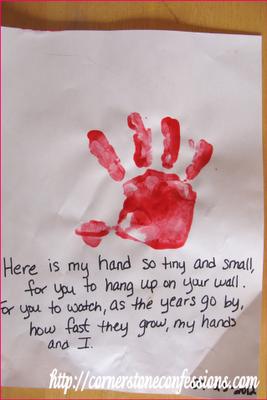 The famous handprint