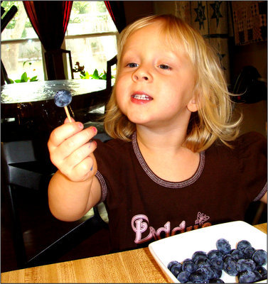 Toothpick blueberries