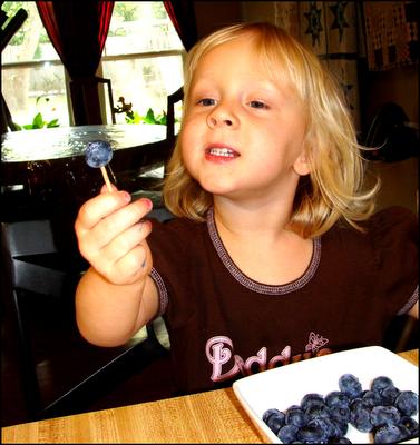 Toothpick blueberries