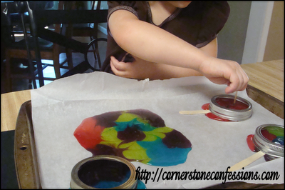 Making edible stained glass and popsicles