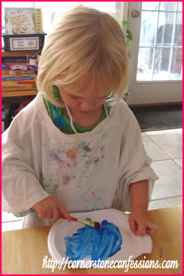 Painting a fish bowl