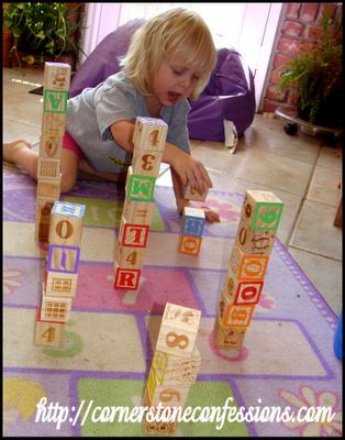 Number block stacking