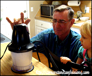 Bonus Event for the Week:  Papa came for a visit and showed us how to make butter!