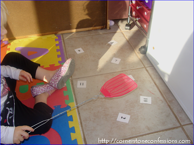 Fly swat numbers--such a fun way to practice number recognition