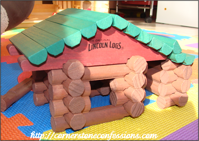 A Lincoln Log Cabin...just like Abraham Lincoln's One Window Cabin
