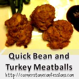 Quick Bean and Turkey Meatballs
