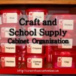 School Supply and Craft Cabinet Organization