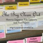 The Big Clean Out: File Cabinets and Tax Papers