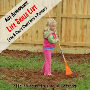 Age Appropriate Life Skills List