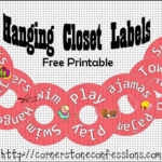 Hanging Closet Labels {Free Printable}