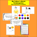 My Father's World Morning Board Cards {Free Printables}