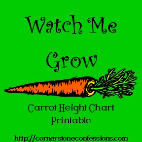 Carrot Height Chart