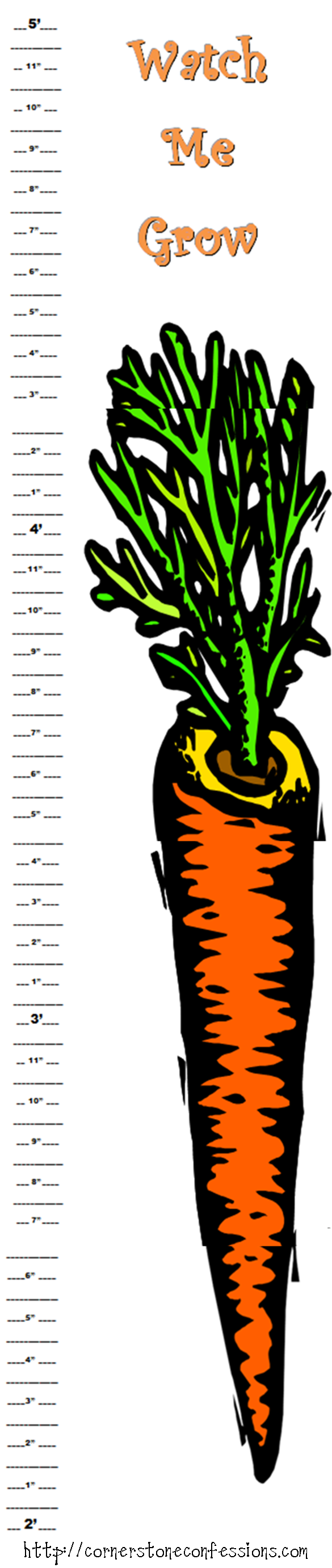 Carrot Height Chart {Free Printable} - Cornerstone Confessions