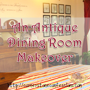 Antique Dining Room Makeover