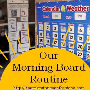 Morning Board Routine