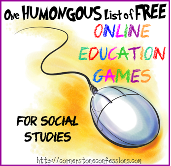 One Humongous List of FREE Online Education Games for Social Studies
