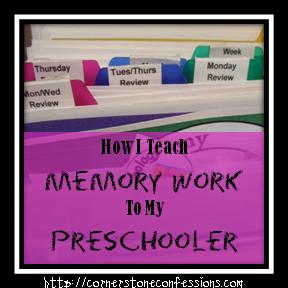 How I Teach Memory Work to My Preschooler