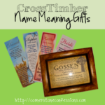 CrossTimber Name Meaning Gifts {Review}