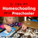 5 Tips on Homeschooling Your Preschooler