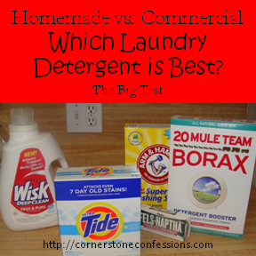 Which Laundry Detergent is Best?  A Laundry Detergent Comparison Experiment
