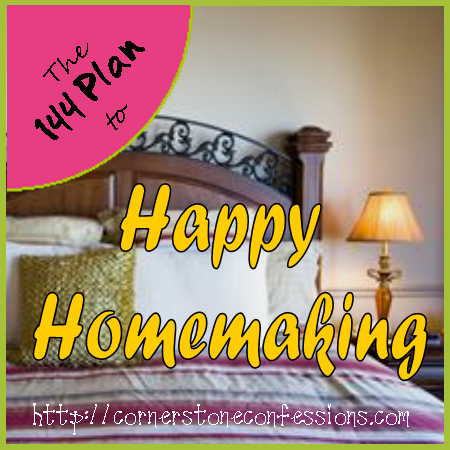 Happy Homemaking on CornerstoneConfessions.Com