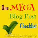 One MEGA Blog Post Checklist {Free Printable}
