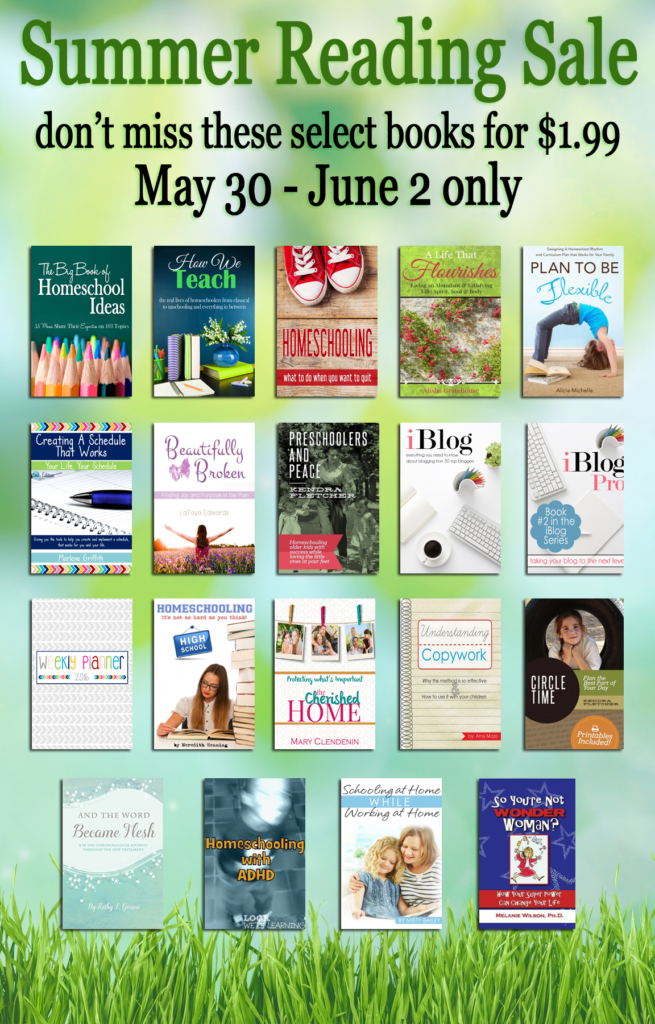 iHomeschool Network's Summer Reading Sale. You choose which titles you want. They are all $1.99 each!