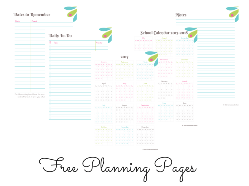 Free Planner Printables for 2017
