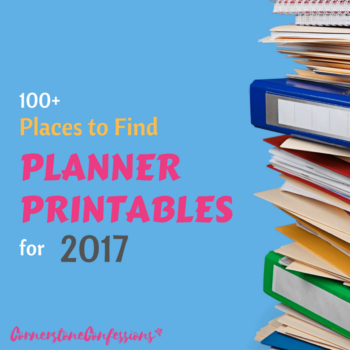 100+ Places to Find Planner Printables for 2017