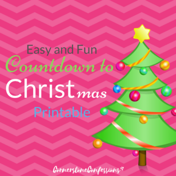 Easy and Fun Countdown to CHRISTmas Printable
