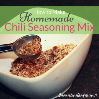 How to Make Homemade Chili Seasoning Mix--with substitution options depending on the type of chili you like most!