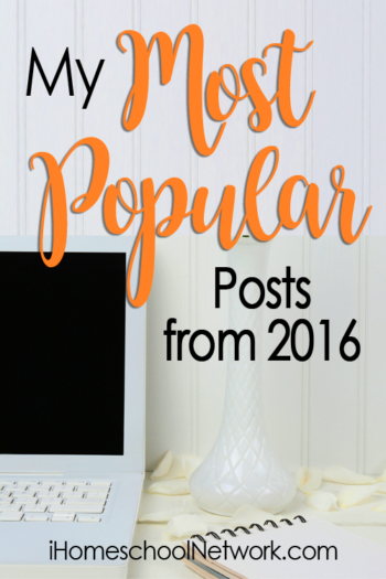 Coming January 9!  Be inspired by the the top Most Popular Homeschool Posts from 2016
