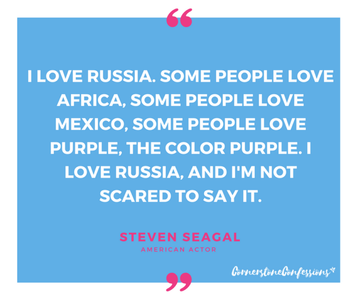 Steven Seagal on Russia