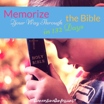 Memorize Your Way Through the Bible in 132 Days--Free Bible verse memory plan