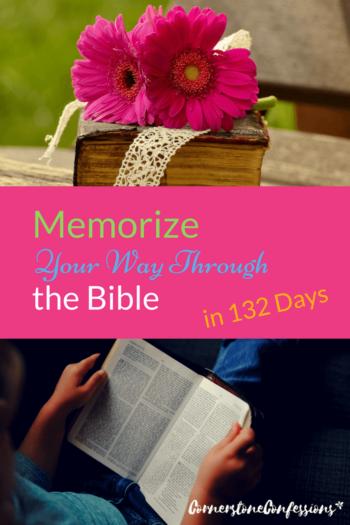 Memorize Your Way Through the Bible in 132 Days--Free Bible verse memory plan