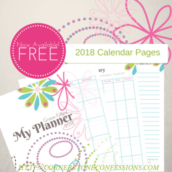FREE Printable! 2018 Calendar Pages