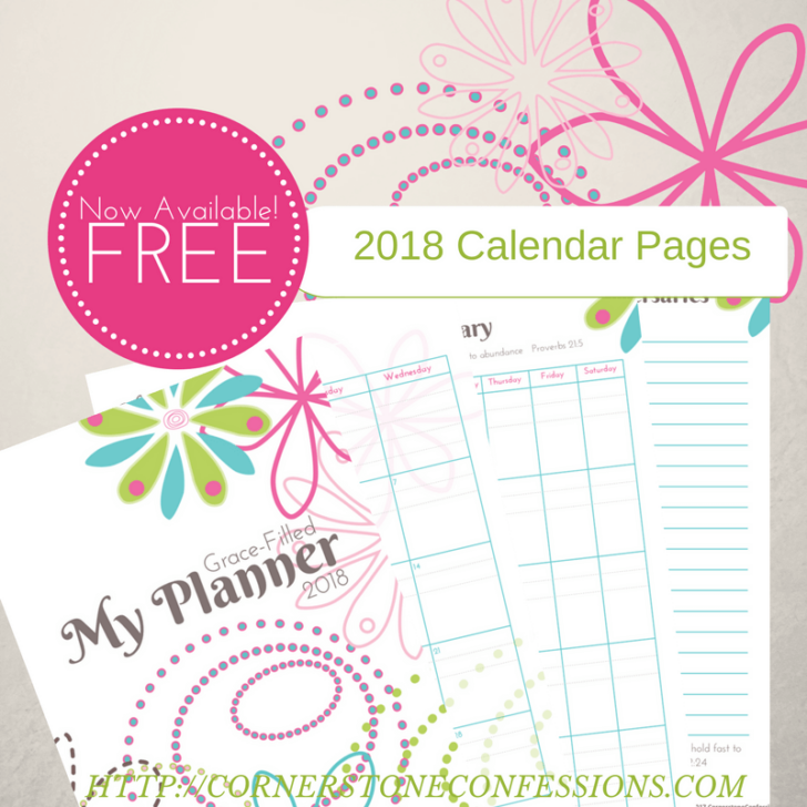 monthly planner 2018 printable