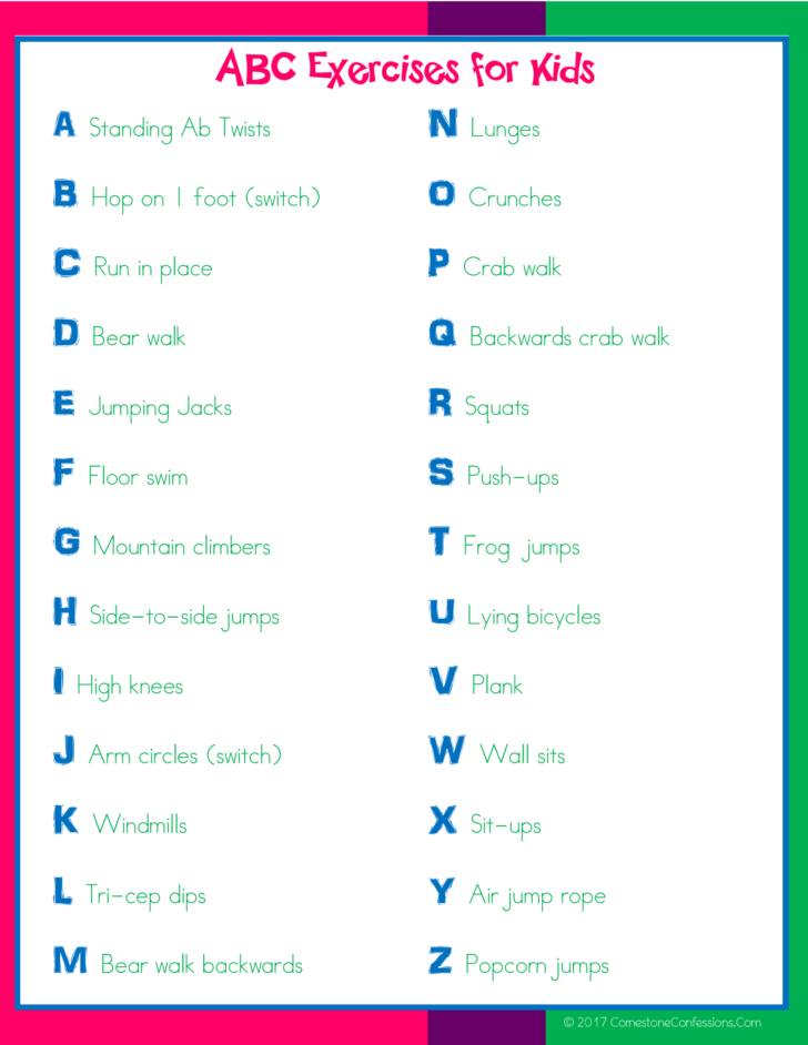 ABC Exercises for Kids