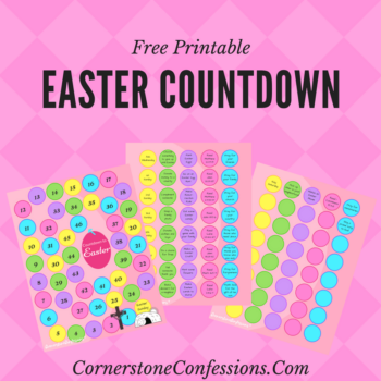 Easter Countdown--Free Printable