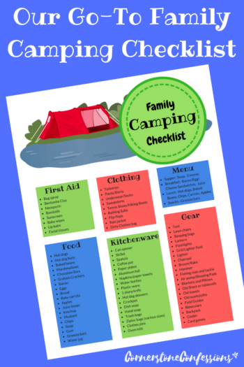 Free Printable--Go-To Family Camping Checklist